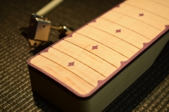 Purpleheart slide guitar neck inlays