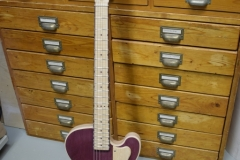 Purpleheart slide guitar full view