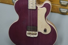 Purpleheart slide guitar body